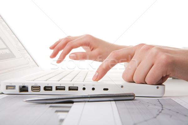 оккупация человека рук ноутбука набрав Сток-фото © pressmaster