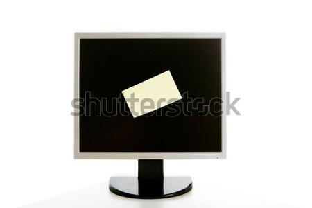 Monitor with bulletin Stock photo © pressmaster