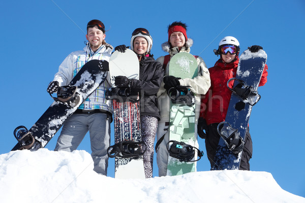 Group of snowboarders Stock photo © pressmaster