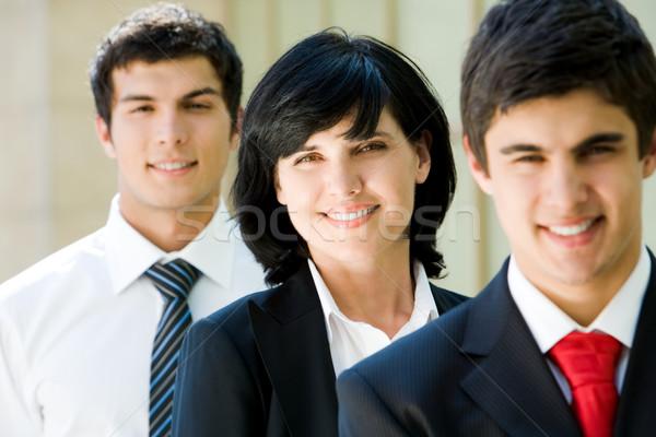 Kobiecy pracodawca portret uśmiechnięty kobieta interesu człowiek Zdjęcia stock © pressmaster