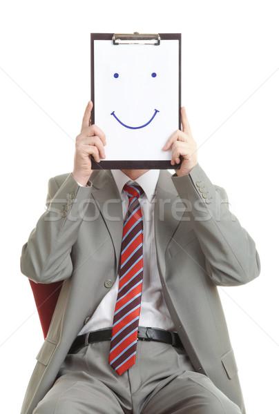 Buonumore ritratto imprenditore documento sorriso Foto d'archivio © pressmaster
