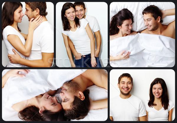 親熱 情侶 拼貼 快樂 顯示 商業照片 © pressmaster