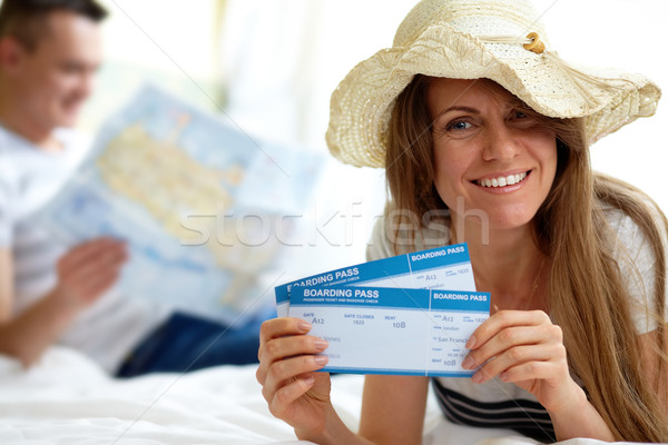 Woman with tickets Stock photo © pressmaster