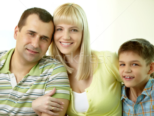 Happy trio Stock photo © pressmaster