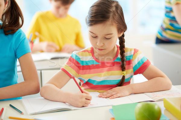 девушки рисунок портрет месте студент образование Сток-фото © pressmaster