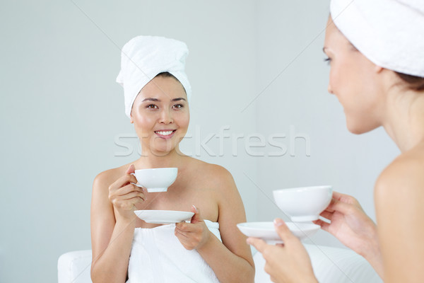 Drinking tea Stock photo © pressmaster