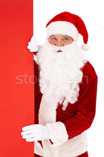 Peeking Santa Stock photo © pressmaster