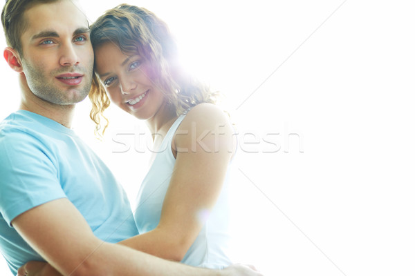 年輕 日期 快樂 情侶 隔離 商業照片 © pressmaster
