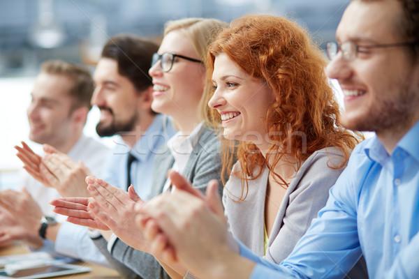 Сток-фото: конференции · фото · счастливым · деловые · люди · Focus