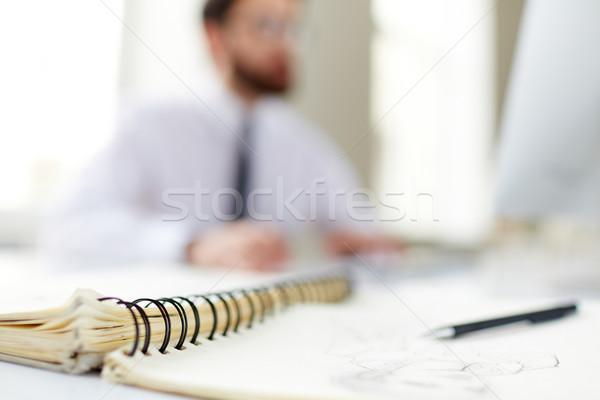 Notepad binder Stock photo © pressmaster