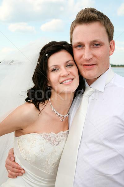 Photo stock: Relation · portrait · élégant · marié · belle