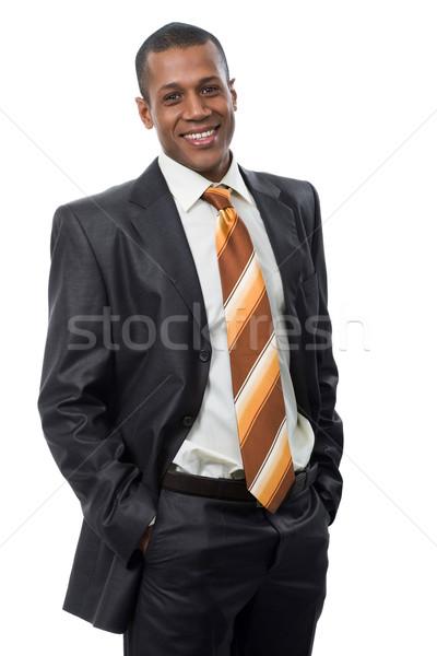 Felice capo ritratto di successo professionali abito nero Foto d'archivio © pressmaster
