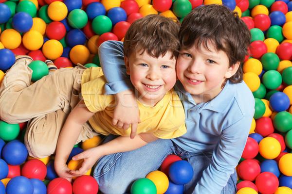 Genegenheid gelukkig jongen broer beide Stockfoto © pressmaster