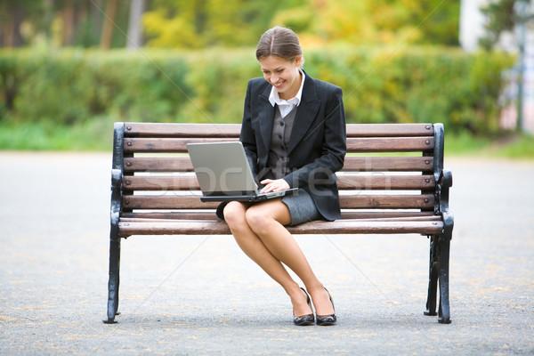 работодатель изображение элегантный сидят скамейке бизнеса Сток-фото © pressmaster