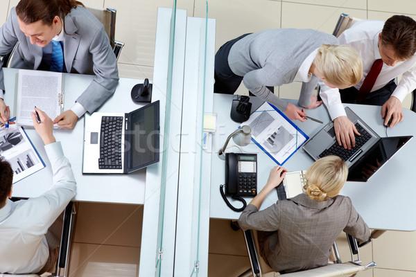 ストックフォト: 作業 · 日 · オフィス · 角度 · 2