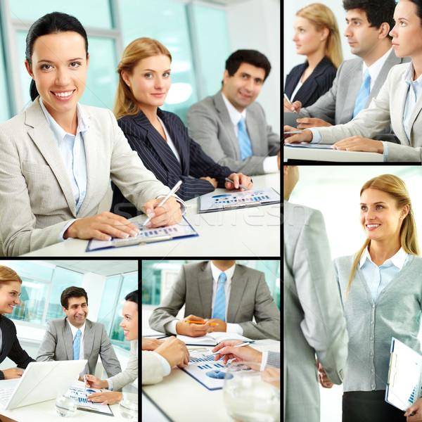 Stock fotó: üzlet · oktatás · kollázs · sikeres · üzletemberek · tanul