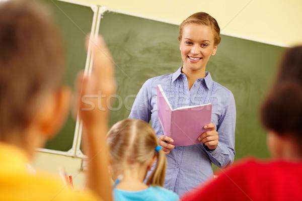 レッスン 肖像 スマート 教師 練習帳 見える ストックフォト © pressmaster