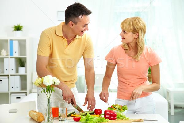 Cooking salad Stock photo © pressmaster