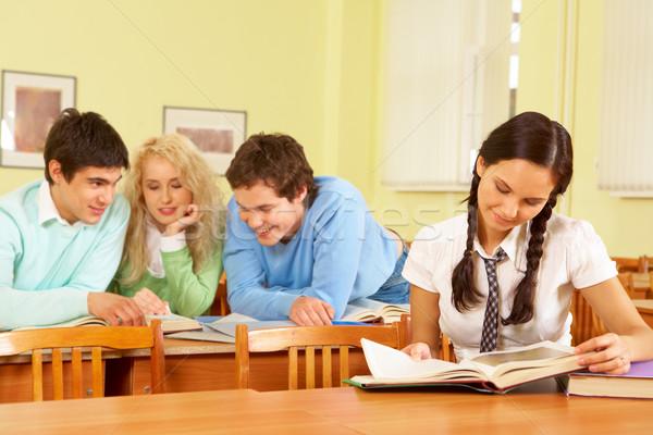 Reading students Stock photo © pressmaster