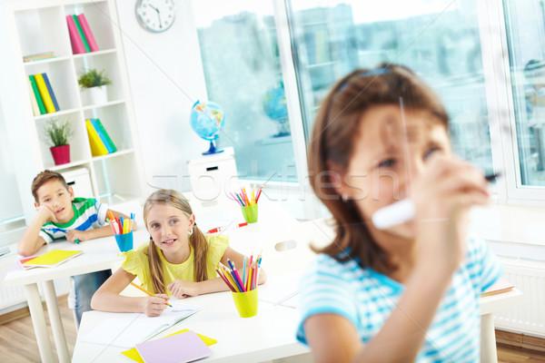 Smart pupils Stock photo © pressmaster