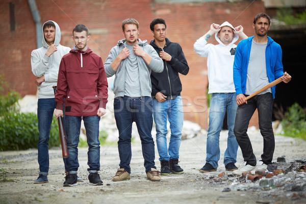 Portret jongens straat bedrijf tiener persoon Stockfoto © pressmaster