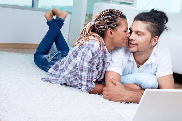 Kötődés kép fiatal fickó barátnő lány Stock fotó © pressmaster