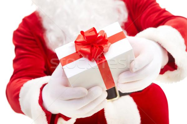Vrijgevigheid foto kerstman handen Rood Stockfoto © pressmaster