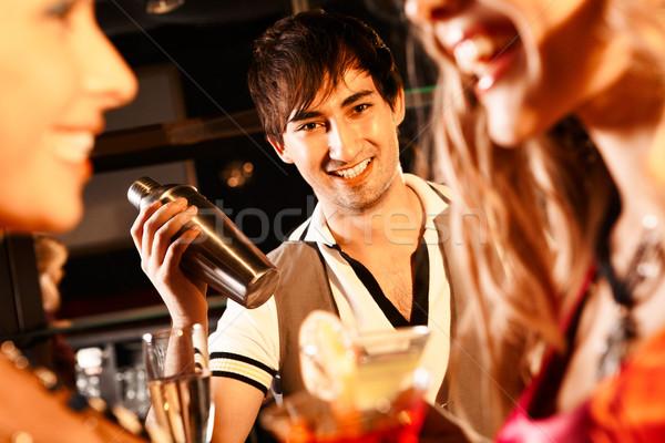 Happy barman Stock photo © pressmaster