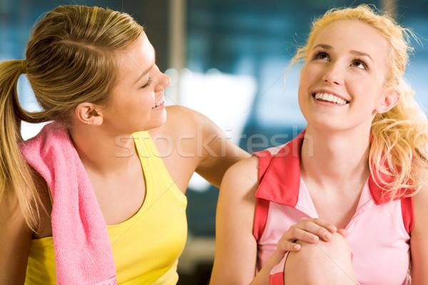 Rajongás portré érzelmes lány néz beszél Stock fotó © pressmaster