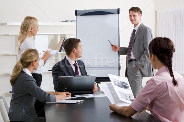 Iş eğitim görüntü işadamı tanıtım konferans Stok fotoğraf © pressmaster
