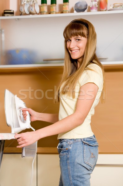 Woman ironing Stock photo © pressmaster