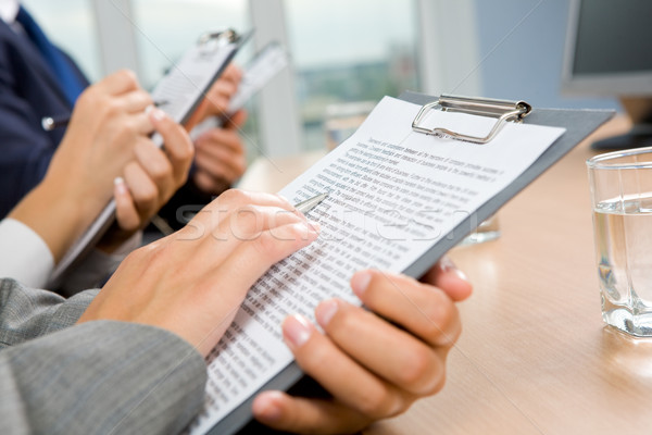 Reading document Stock photo © pressmaster