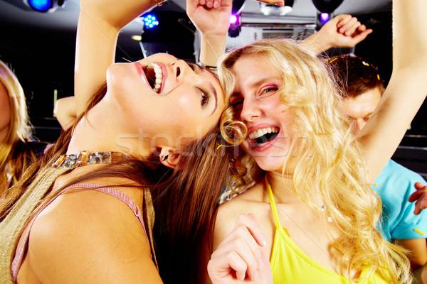 Stato d'animo due gioioso ragazze ridere Foto d'archivio © pressmaster