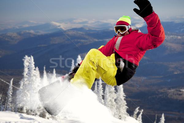 Экстрим портрет спортсмен подготовки зима человека Сток-фото © pressmaster