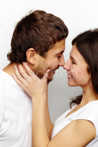 Intimidade feliz mulher marido olhando um Foto stock © pressmaster
