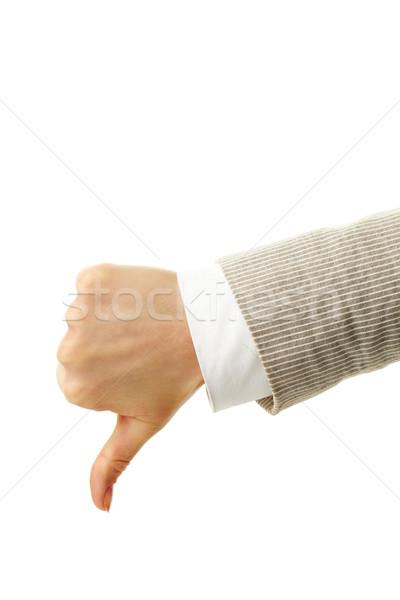 Thumb down Stock photo © pressmaster