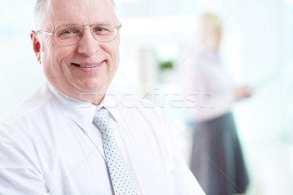 Sikeres főnök portré mosolyog néz kamera Stock fotó © pressmaster
