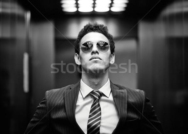 Ambitieus portret business vent zonnebril Stockfoto © pressmaster