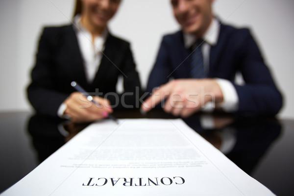 Сток-фото: подписания · договор · изображение · человека · рук · бизнеса