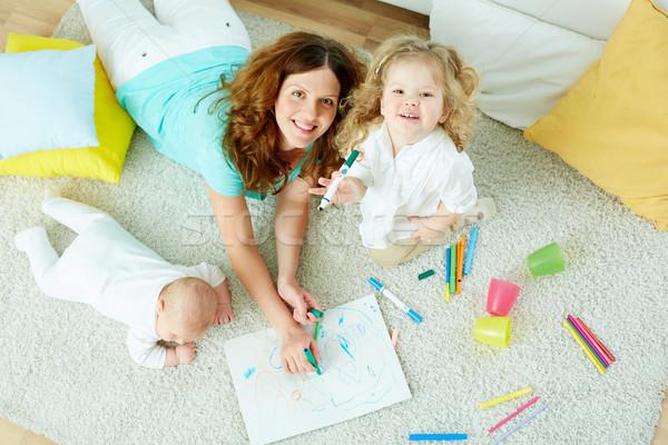 ベビーシッター 子供 肖像 美しい 見える かわいい ストックフォト © pressmaster