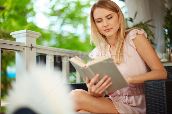 Stock photo: Reading at leisure