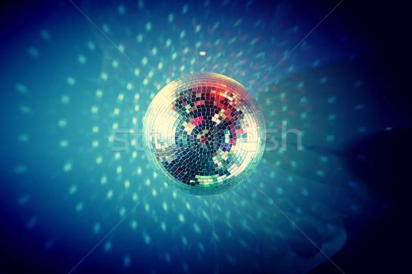 Disco ball widoku poniżej ciemności projektu Zdjęcia stock © pressmaster