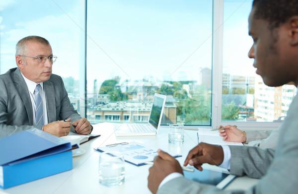 Negocios interacción retrato gente de negocios empresario ejecutivo Foto stock © pressmaster