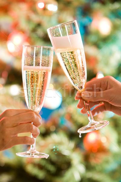 Two glasses of champagne Stock photo © pressmaster