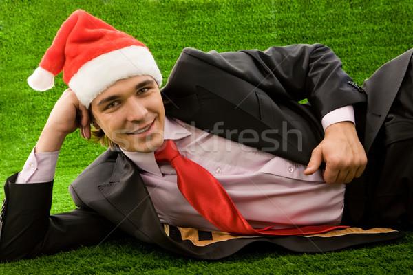 Lying on grass Stock photo © pressmaster