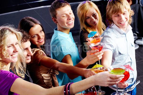 Festa diversão foto inteligente amigos Foto stock © pressmaster