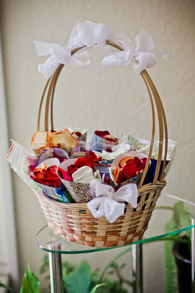 rose petals wrapped in paper Stock photo © prg0383