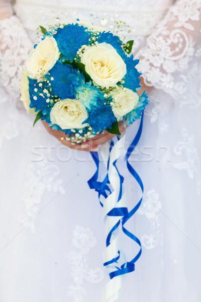 Esküvői csokor közelkép esküvő szeretet terv növény Stock fotó © prg0383