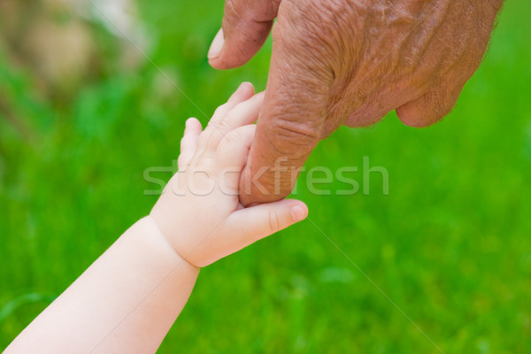 стороны рук улице ребенка лет зеленый Сток-фото © prg0383