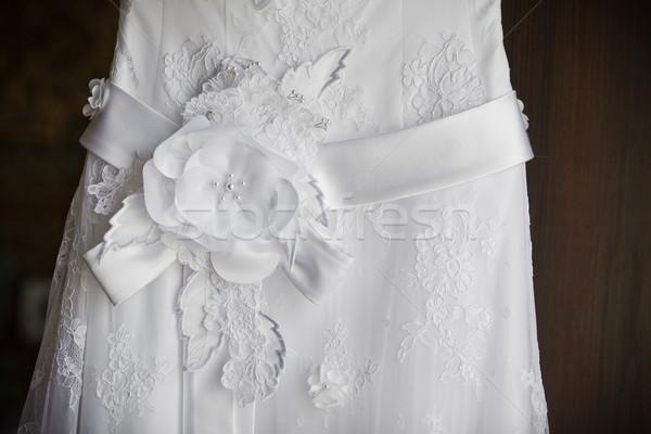 Gelinlik güzel düğün moda gelin Stok fotoğraf © prg0383